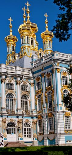Cathedral at Catherine's Palace, St Petersburg, Russia