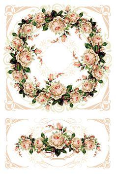 Рукодельная лавка - Выкройка для квадратного короба с розами