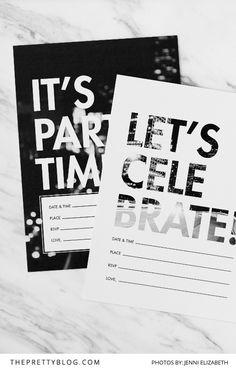 Urban Fun: Printable Invitation Templates by Seven Swans   Photograph by Jenni Elizabeth