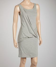 Look what I found on #zulily! Gray Twist Sleeveless Dress by Pure and Simple #zulilyfinds
