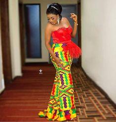 Latest Kente Fabric Styles For Fashionable Ladies - Loud In Naija Unique Ankara Styles, Kente Styles, Ankara Gown Styles, African Print Fashion, African Fashion Dresses, African Attire, African Clothes, African Men, African Prints