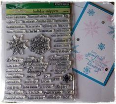 NEW Penny Black Holiday Snippets Christmas Stamp Set Snowflakes plus BONUS card  #PennyBlack