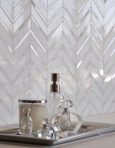 chevron glass tile?
