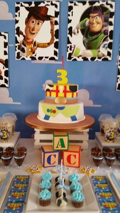 Amazing dessert table from a Toy Story birthday party! See more party planning ideas at CatchMyParty.com!