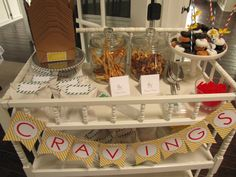 Cravings table for Shake Rattle Roll Gender Neutral Baby Shower