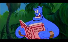The Genie (voice of Robin Williams) in 'Aladdin' (1992, R. Clements & J. Musker)