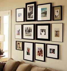 Decorare una parete con le foto