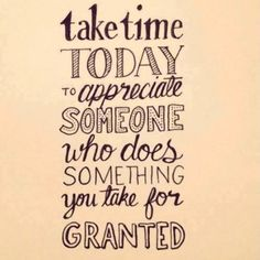 Take time today