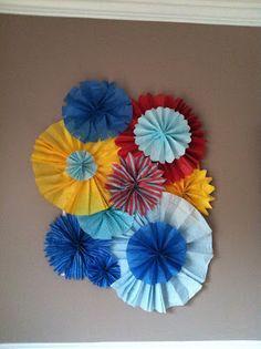 clementine & vine: Tissue paper fan decor