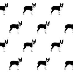 boston terrier fabric by if_you_see_something on Spoonflower - custom fabric