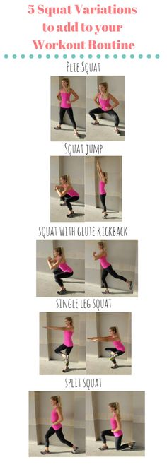 Kick-Butt Squat Variations Shape up with these 5 Kick-Butt Squat Variations.Shape up with these 5 Kick-Butt Squat Variations. Fitness Diet, Fitness Motivation, Fitness Plan, Shape Fitness, Glute Kickbacks, Squat Variations, Squat Workout, Butt Workouts, Sport