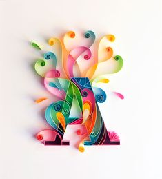 Delicate Paper Calligraphy Showcases a Cheerful Alphabet | The Creators Project