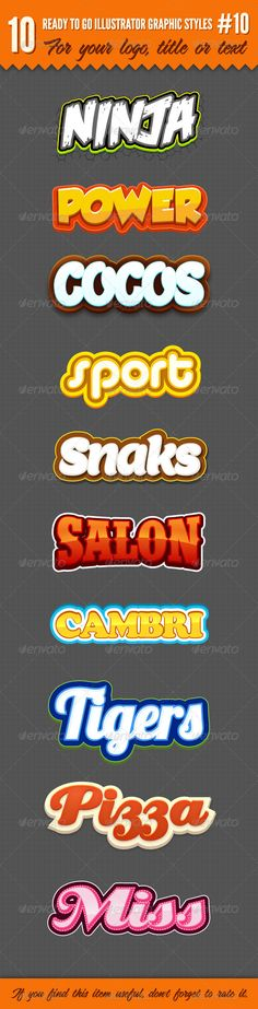 10 Logo Graphic Styles #10  #GraphicRiver