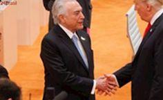 Donald Trump elogiou economia do Brasil, diz Temer em sua rede social