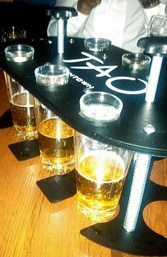 Tequila shots dropped into beer at Tao Downtown NYC