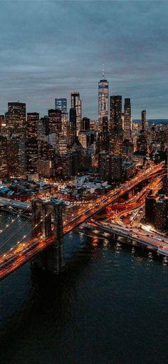 Bridge Wallpaper, New York Wallpaper, City Wallpaper, City Aesthetic, Travel Aesthetic, Blue Aesthetic, City Photography, Aerial Photography, Landscape Photography