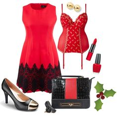 """""""Christmas Red"""" by simplybe on Polyvore"""