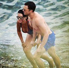 Amelia Warner and Jamie Dornan. Paloma Beach, France. 7/12/16