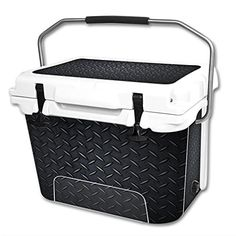 MightySkins Protective Vinyl Skin Decal Wrap for RTIC 20 qt Cooler cover sticker Black Diamond Plate >>> Check this awesome product by going to the link at the image.