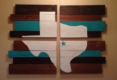 4 pc. Texas Pallet Sign Can be done with any by CraftedInTexas