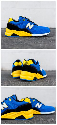 New Balance 580: Blue/Black/Yellow