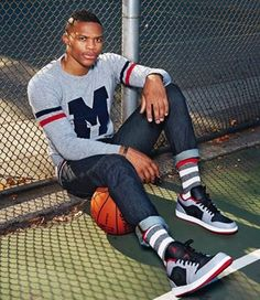 Russell Westbrook to Collaborate with Barneys New York: Barneys New York recently announced a collaborative project with Oklahoma City Thunder point guard Russell Westbrook, Westbrook Okc, Nba Fashion, Look Fashion, Mens Fashion, Fashion Pics, Street Basketball, Love And Basketball, Sharp Dressed Man
