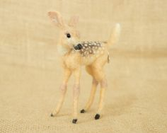 RESERVED FOR TARA: Martha the Fawn Needle felted animal sculpture