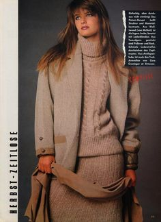 PAULINA PORIZKOVA German Vogue Editorial August 1983