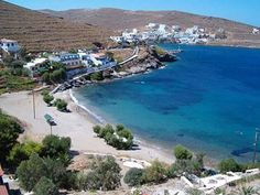 Martinakia Beach near Merihas village and port in Kythnos Island Beach, Ancient Greece, World Heritage Sites, Beautiful Beaches, Santorini, Places Ive Been, Coast, Outdoor, Greek
