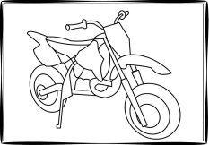 Honda Dirt Bike Coloring Pages