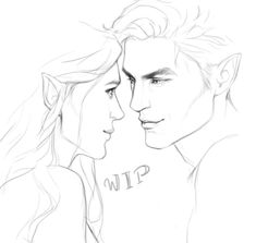Feyre and Rhysand WIP by cocotingo. ACOMAF ACOWAR Sarah J Maas