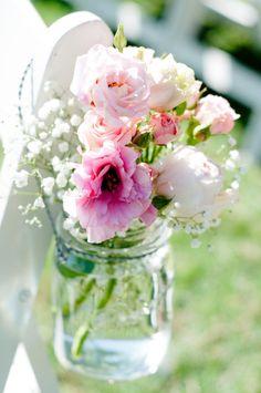 Pink Poppy, Roses, Baby's Breath