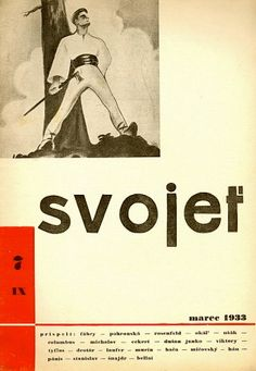 Internet Antiquarian Bookshop 108 BUDDHAS -- Gallery -- Slovakian avant-garde and typo -- Svojeť Bratislava, Typo, Czech Republic, Magazine Covers, Words, Gallery, Book Covers, 1930s, Culture