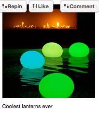 lanterns on water