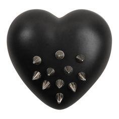 Punk at heart a studded ceramic love heart