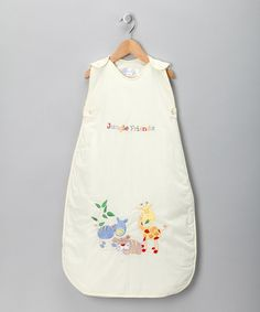 Take a look at this The Dream Bag Cream Jungle Friend Sleeping Sack on zulily today!