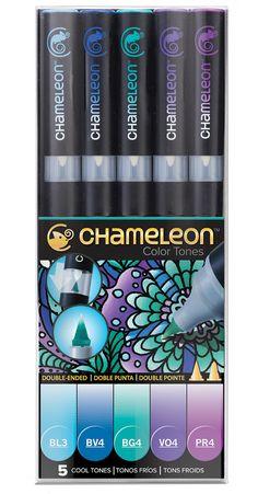 Chameleon Color Tones - 5 Pen Cool Tones - Chameleon Art Products