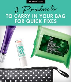 If you're out and about and happen to experience any beauty blunders, here are 3 fail safe products to make sure your problems are solved!
