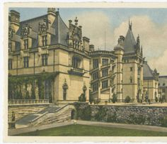 Biltmore House--From Italian Garden, Biltmore House & Gardens :: North Carolina Postcards