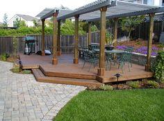 Detached Deck  Deck Design  Cyprex Construction Landscapes  San Jose, CA