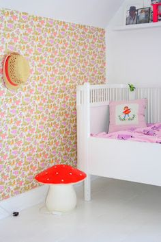 neon and pastels nursery