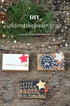 Adventskalender to go mit kostenloser pdf-Datei auf dem Blog. Kleine Geschenke erhalten die Freundschaft und zu Weihnachten erwärmen sie das Herz. #DIY #Adventskalender #Weihnachten To Go, Xmas, Christmas Ornaments, Diy Weihnachten, Advent Calendar, Kindergarten, Blog, Crafty, Holiday Decor