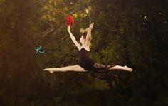 Dance inspiration | pointe | leap | red hat| vintage flair| teen | Robin Rogers Photography www.robinrogersphotography.net