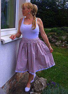 Sukne - Károvaná sukňa - 6706346_