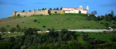 A stunning shot of a walking trail near the Church and Castle of Santiago do Cacém in south west Portugal! Portugal, Santiago Do Cacem, Countryside, Trail, Walking, Mansions, Monuments, House Styles, Railings
