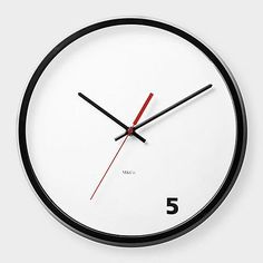 MoMA-5-OClock-Wall-Clock-M-Co-Modern-Unique-Art-Office-Work-Contemporary-Clock