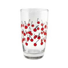15 Patterned Glasses to Perk up Your Dinner Table Cherry Kitchen, Glass Kitchen, Kitchen Dining, Kitsch, Cherries Jubilee, Little Cup, Retro Renovation, Kitchen Collection, Gadgets And Gizmos