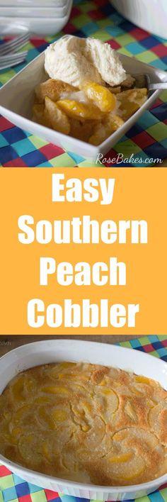 Southern Peach Cobbl