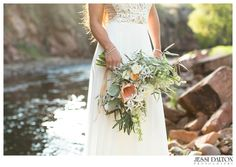 Grecian Inspired River Bend wedding in Lyons, Colorado | Tara Keely dress from Blue Bridal Boutique | Florals by @EmmaLeaFloral | Jewelry from @shanecompany | Hair & Makeup by @lovelulu143 | Coordinator @Purple Summer Events | www.jessidalton.com