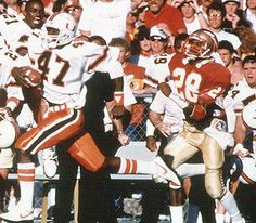 """Michael Irvin dusting some FOOL who went to that """"school"""" in Tallahassee"""